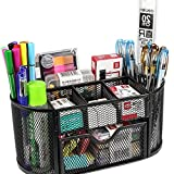 #4: SUPO Metal Mesh Desk Organizer, Black Office Stationary and Study Table