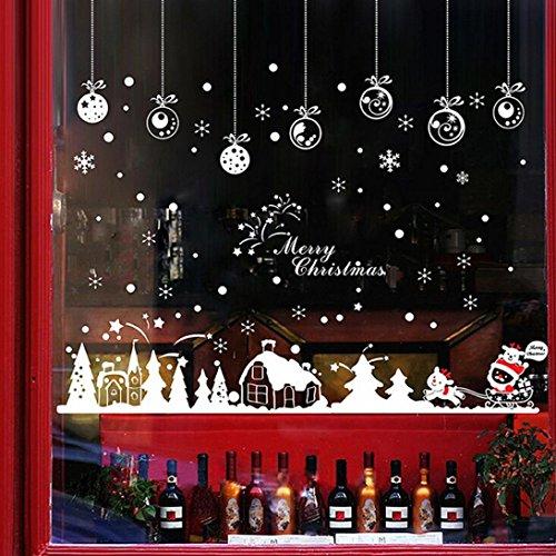 Amlaiworld Natale Cabin decorazione della decalcomania Vinile Finestra rimovibile adesivi murali