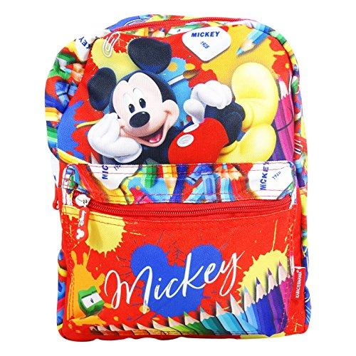 Disney mickey mouse crayons - zaino double face per bambini - spallacci imbottiti - colore: multicolor