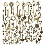 KING DO WAY 70 Stueck Retro schluessel Antiken vintage alt Bronze Anhaenger dekor Schluessel Schmuck Anhaenger Deko Fuer Halskette Kette
