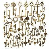 Toy - KING DO WAY 70 Stueck Retro schluessel Antiken vintage alt Bronze Anhaenger dekor Schluessel Schmuck Anhaenger Deko Fuer Halskette Kette
