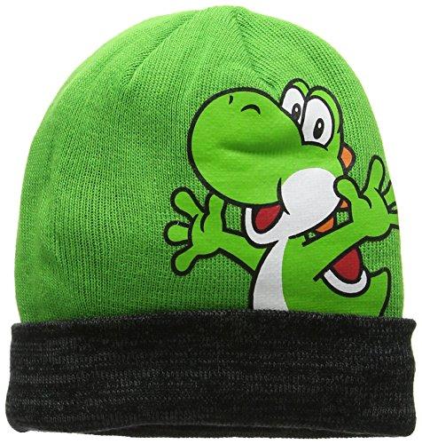 Super Mario Bros de NINTENDO. Gorro unisex de Yoshi. verde verde Talla...