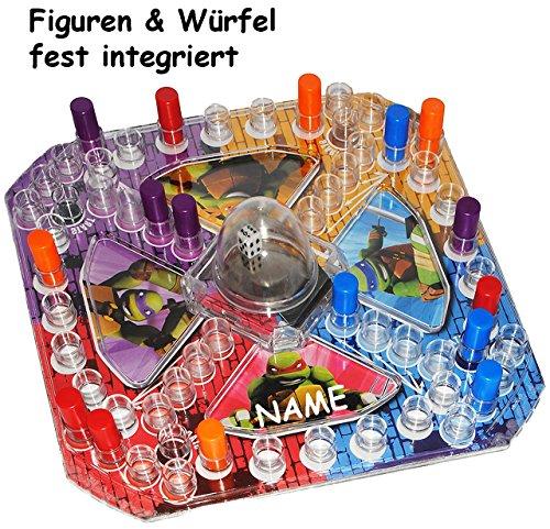 Turtles  - Rausschmeißen - Brettspiel / Pop Up Spiel - incl. Name - Gesellschaftsspiel / Reisespiel - Flugzeug & Autofahrt - Würfelspi.. ()