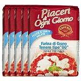 Favero Weizenmehl für Pizza, 5 x 1Kg. I Sparset mit Lacross-Schreibblock