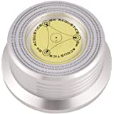 VBESTLIFE Registra stabilizzatore, 50/60 Hz Livella a Bolla Rilevamento velocità Giradischi LP Disco in Vinile Regolatore sta