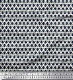 Soimoi Weiß Seide Stoff Spinne Insekt Stoff drucken Meter