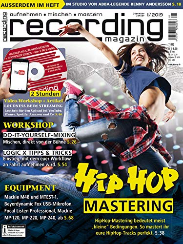 Hip Hop Mastering / mit DVD Workshop Loudness beim Streaming / Workshop Do It Yourself Mixing / recording magazin