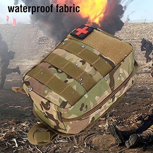 Erste Hilfe Tasche, Outdoor Survival Militärische Erste Hilfe Tasche Klettern Emergency Medical Pouch(CP Camo)
