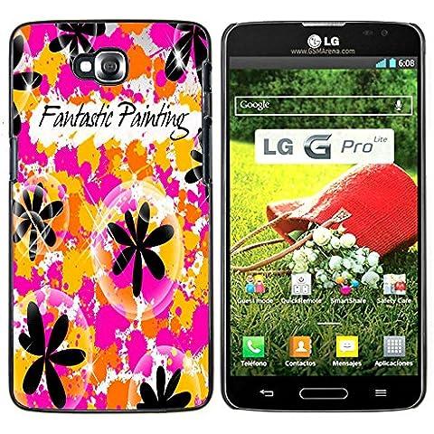 LG G Pro Lite / D680 D682TR - Metal de aluminio y de plástico duro Caja del teléfono - Negro - Sun Beach Hippie verano de