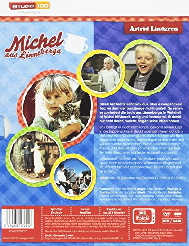 Astrid Lindgren: Michel aus Lönneberga - TV-Serie Komplettbox (TV-Edition, 3 Discs): Alle Infos bei Amazon