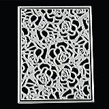 TWIFER Stanzschablonen Metall Schneiden Schablonen für DIY Scrapbooking Album, Schneiden Schablonen Papier Karten Sammelalbum Dekor (M:93x123mm)