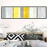 Wandgemälde Nordische abstrakte Farbe Schlafzimmer Dekoration Malerei Zimmer Nachttisch Zeichnung Modell Zimmer Wohnzimmer Sofa Hintergrund (Color : Black, Size : 32*132cm-B)