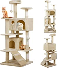 Yahee Katzenkratzbaum Katzenbaum Spielbaum mit Seil und diversen Plattformen 136 cm Hoch