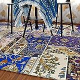 GXQ Böhmen Teppich Wohnzimmer Teppich Eingangstür Stoff Sofa Schlafzimmer Nationalen Wind Bettdecke (Farbe : A, Größe : 120x180cm (47x71inch))