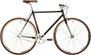 REID Unisex Adult Wayfarer Midnight Plum Singlespeeds and Fixies L Cruiser Bike - Black/Plum, 130 x 40 x 20