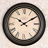 OLILEIO Continental Retro moderne, minimalistische kreative Persönlichkeit Mute Armbanduhr Quarzuhr amerikanische Schlafzimmer Wohnzimmer Uhr Second Hand (14 Zoll, 16-Zoll) 14-Zoll, 11 Wählt