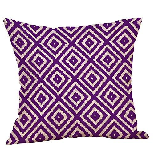 FeiliandaJJ Pillowcase, kissenhülle Kopfkissenbezug Home Dekoration Kissenbezug Lila Geometrie Streifen Super weich Sofakissen für Wohnzimmer Sofa Bed,45x45cm (G)
