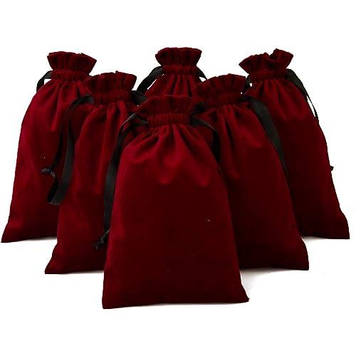 50 PCS Stampata Cuore Rosso Organza Bags Sacchetto dei monili Sacchetti di Organza Velluto Coulisse Sacchetti favori di Nozze Sacchetti Regalo Candy