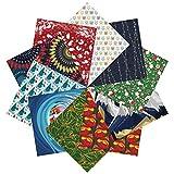 Set regalo di carta origami di Natale| 100 Fogli, 15cm Quadrati | Collezione uno