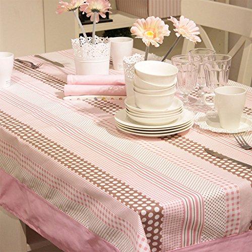 Manteles Cute Pink Stripes casero Restaurante Mesa