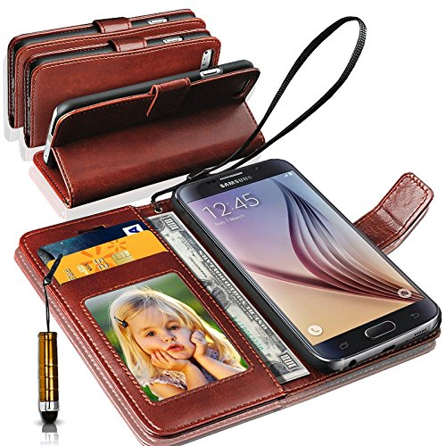LENOVO VIBE K4 NOTE Rich Leather Stand Wallet Flip Case Cover Book Pouch / Quality Slip Pouch / Soft Phone Bag (Specially Manufactured - Premium Quality) Antique Leather Case With Mini Touch Stylus Pen Brown