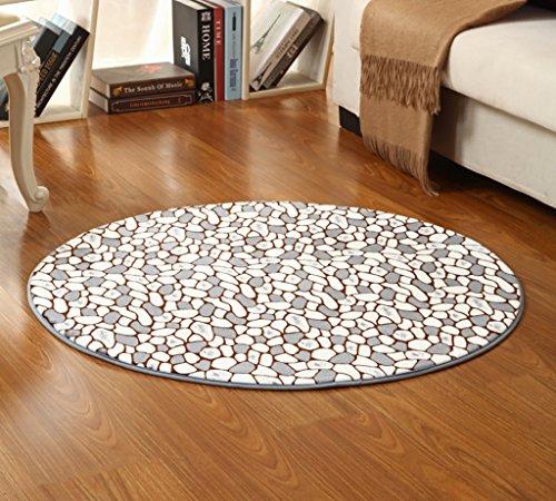 SESO UK- Silla para niños simple alfombra alfombra redonda antideslizante para dormitorio sala de estar ( Color : Gris , Tamaño : 200cm )