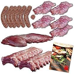 Grillpaket vom LiVar Schwein - Filet/Rippchen / Kachelfleisch/Bratwurst