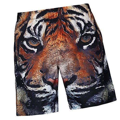 Sharplace Herren Männer Badehose in vielen Farben Boardshorts Freizeit Short Urlaub Short Schnelltrocknend Bermuda Shorts - Tiger S, wie beschrieben (Mann Boardshorts Tiger)