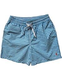 Ralph Lauren - Short de bain -  - À carreaux Homme Bleu Bleu