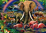 Clementoni 39187.5 - Puzzle Magic 3D 1000 teilig African Savannah