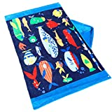 JYSP Kids Hooded Beach Bath Towel Cute Animal 100% Premium Cotton Beach Swimming Pool Bath Towel for Boys and Girls (Submarine and Fish, 127*76cm)