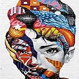 Geiqianjiumai Leinwandbild wandkunst Rahmen Farbdruck auf leinwand Frau wohnkultur Wand Poster...
