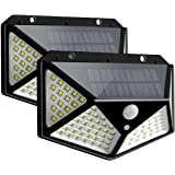 Ganeed Solar Lights Outdoor,Solar Motion Sensor Security Lights with 100 Led,IP65 Waterproof Solar Powered Wireless Wall Ligh