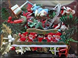 FABOLAND Lot de 25 SUJETS Deco Noel Assortis Decoration BUCHES Noel