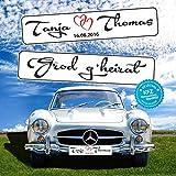 KFZ-Kennzeichen Hochzeit Autoschilder Hochzeitsschilder Hochzeitsschild Namensschilder Grod g'heirat mit Datum