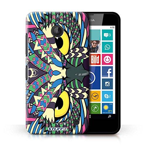 Kobalt® Imprimé Etui / Coque pour Nokia Lumia 635 / Tigre-Mono conception / Série Motif Animaux Aztec Hibou-Couleur