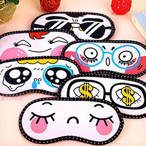 AcmeBuy(TM 2 x schöne Augenmaske, Schlafmaske, Schlafmaske, Schlafmaske, Schlafmaske, Cartoon-Augenbinde, Geschenk für Frauen und Mädchen