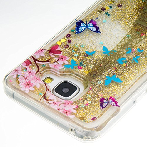 für Samsung Galaxy A3 (2016) A310 A310F Hülle, 3D Fließen Flüssig Schwimmend Treibsand Stern Bling Luxus Shiny Glanz Sparkle Kristall Crystal Bunte der Liebe Design zurück Tasche Schutzhülle für Samsu 2