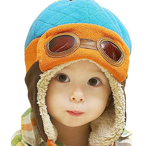 witery-unisex-baby-kids-toddler-hats-winter-warm-cap-hat-beanie-flight-pilot-aviator-caps-hats-blue