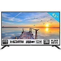 Téléviseur LED HKC 43F3 de 109 cm (43 Pouces) (Full HD, Triple Tuner, CI +, HDMI, Lecteur multimédia Via USB 2.0) [Classe énergétique A]
