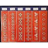 Woolley Art & Craft Plastic Stencil (Red, 3 x 12-inch)