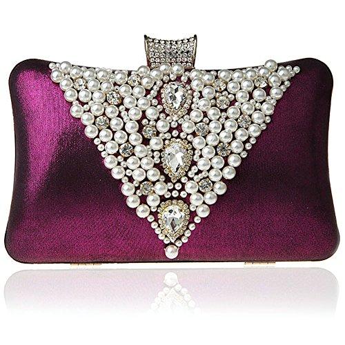 SSMK Evening Bag, Poschette giorno donna Dark Purple