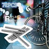 KinshopS 72 Stück Scotchlite Speichenreflektoren Speichensticks Fahrrad Reflektoren Spoke Reflector