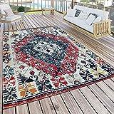 Paco Home in- & Outdoor Teppich Modern Orient Muster Terrassen Teppich Wetterfest Bunt, Grösse:160x220 cm