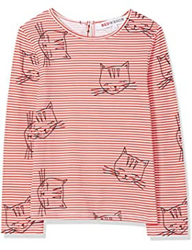 RED WAGON T-Shirt a Righe con Stampa Bambina