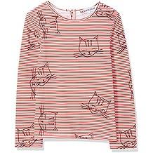 RED WAGON Camiseta de Rayas y Gatitos Para Niñas