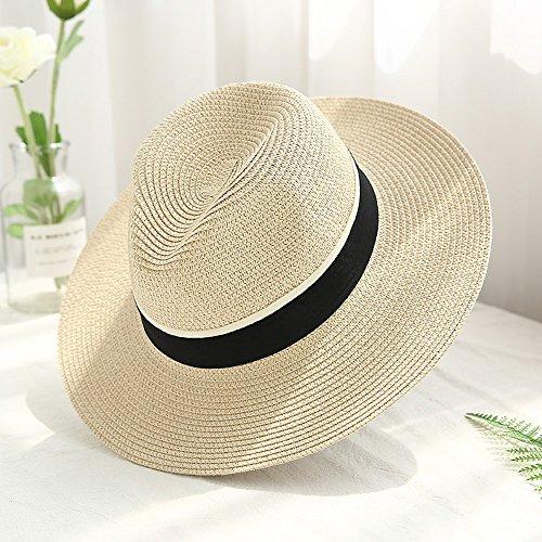 NHGY hüte, Frauen oder Sonnenschirm - mützen, große beschnittene Jazz Kappen,Aprikosen - Farbe