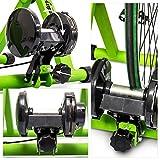 Relaxdays Rollentrainer Inklusive Schaltung 6 Gänge für 26-28 zoll bis 120 kg Belastbar Indoor Fahrradfahren Stahl, Grün, 10018322_53 - 6