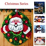14 Modell Christmas Knüpfkissen Latch Hook Kit Rug Christmas111 52 by 52 cm