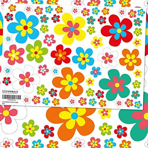 Stickerwald Flower Power - Adhesivos de flores para coche, motocicleta, bicicleta